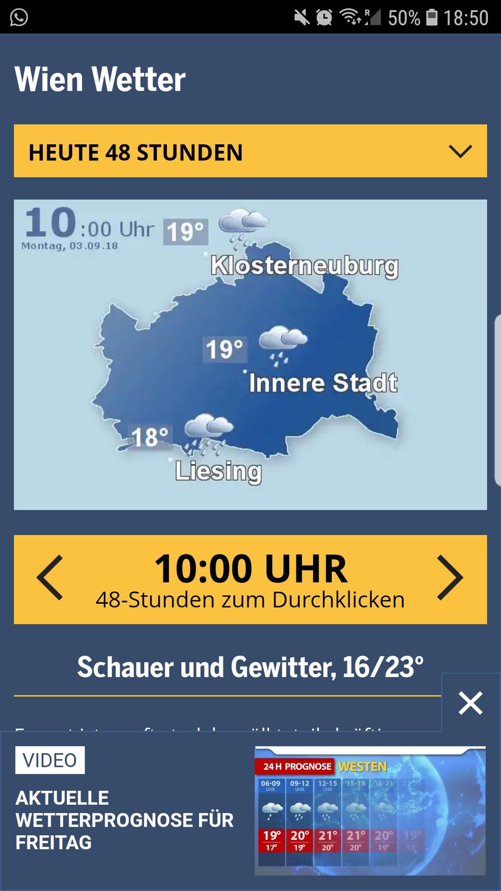 Wien. Eine Stadt - Drei Wetterzonen
