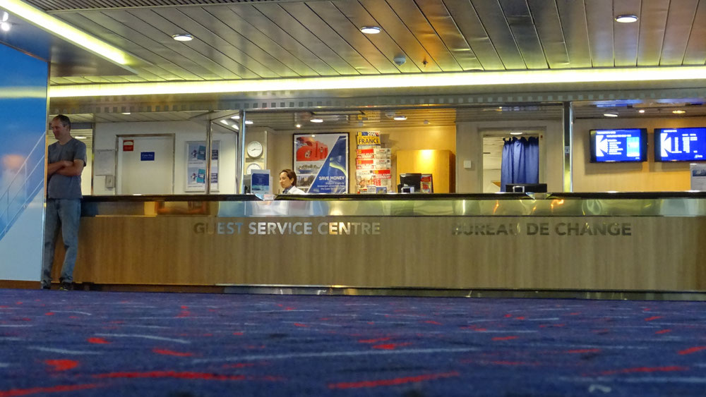 Guest Service Centre on board King Seaways, located at deck 07.