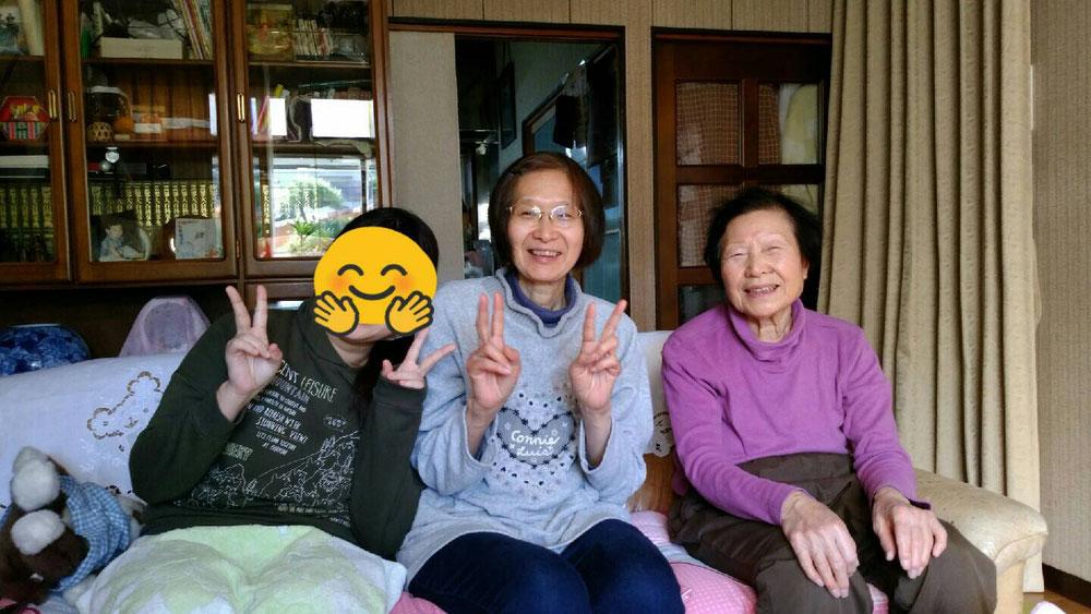 正月 母と娘と三世代