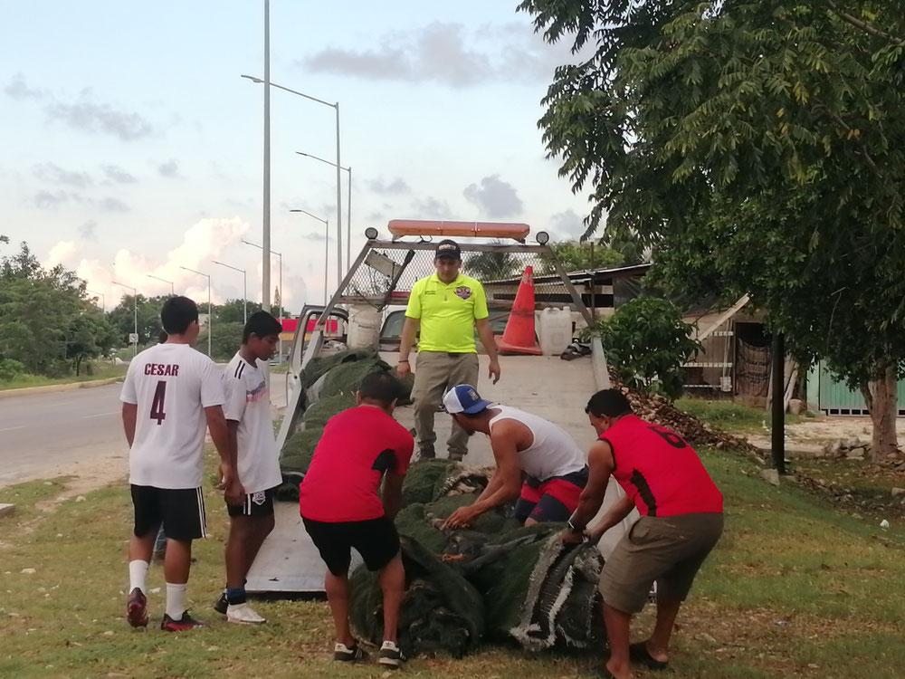 """El programa """"El deporte es Salud"""" fue supervisado por el directos general de los RM William Saúl Ku Centeno."""