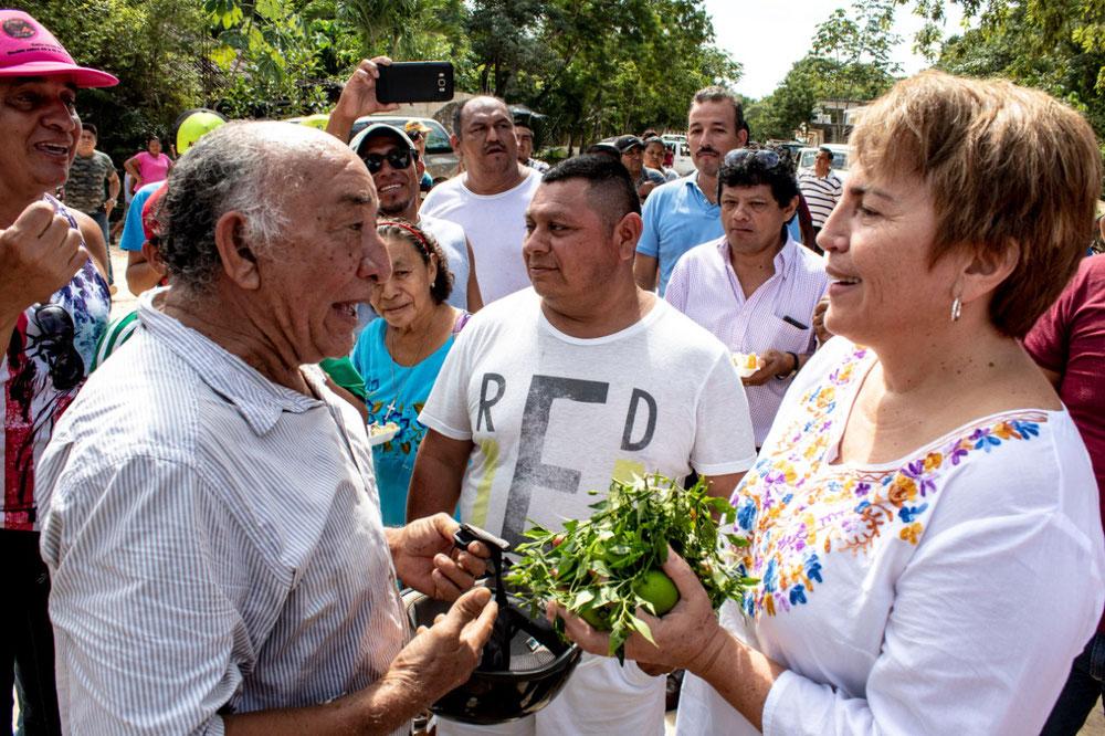 Los habitantes de dicha colonia agradecieron la visita de la alcaldesa electa