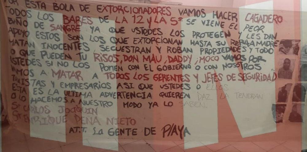 """La narco manta fue firmada por """"La Gente de Playa"""""""