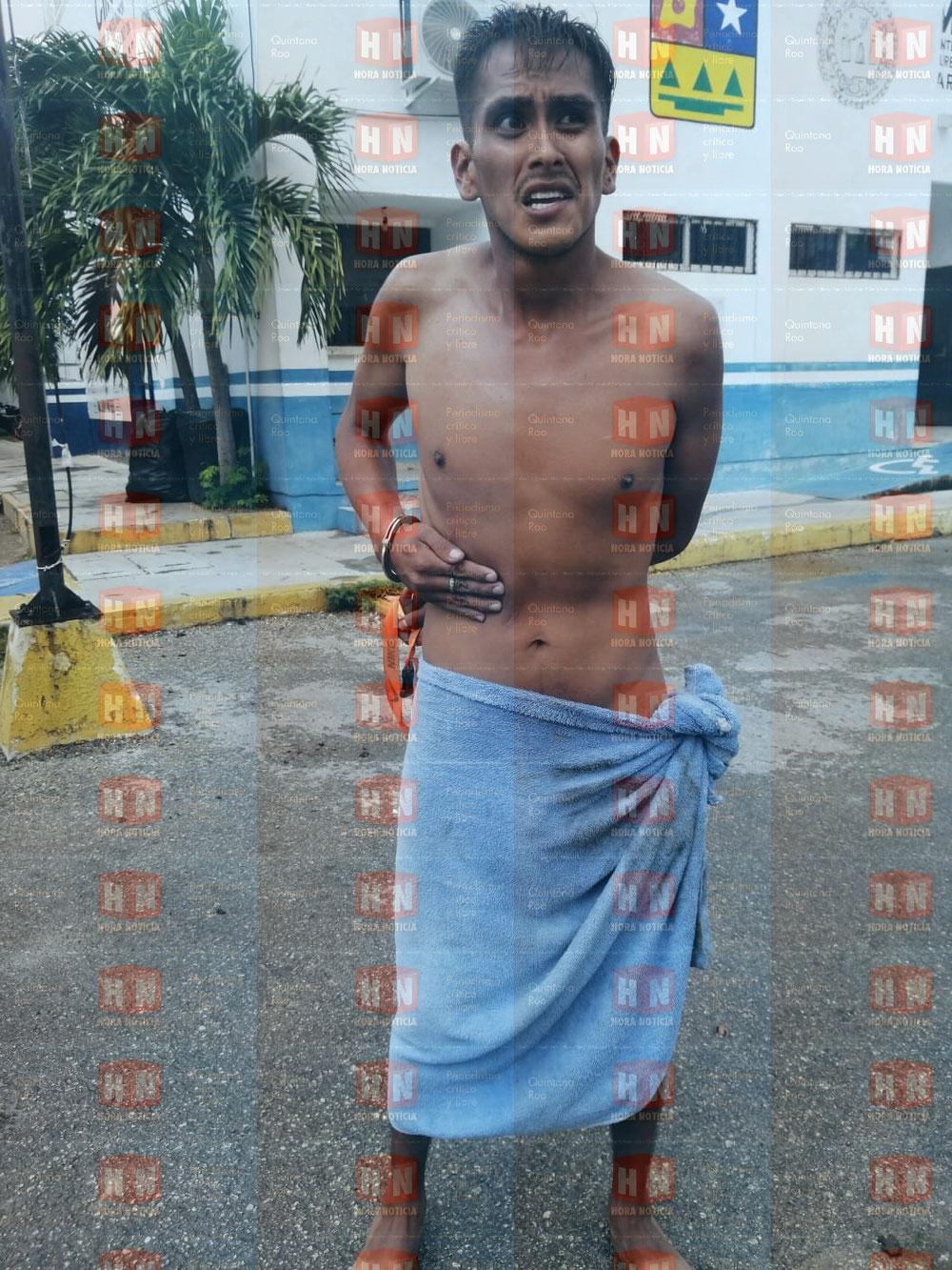 Dicha imagen es de las instalaciones de seguridad pública, cuando fue detenido.