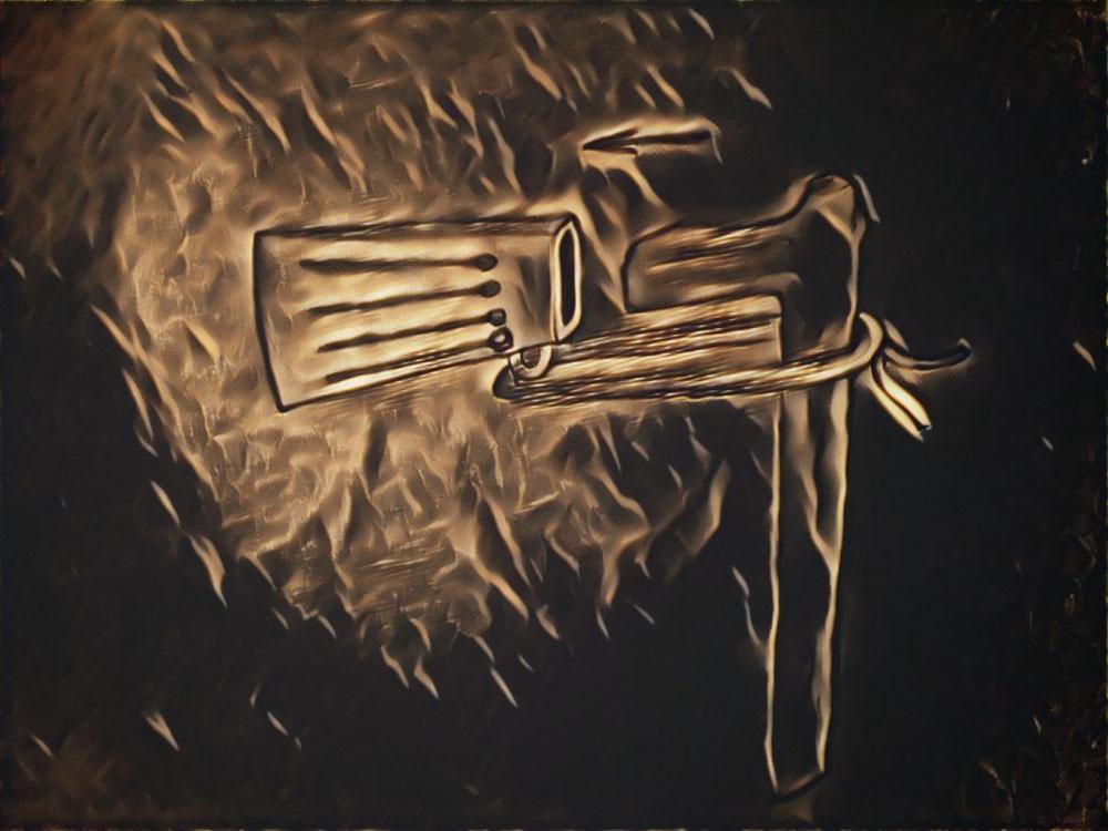 Montage d'une hache à douille, sacralisée chez les gaulois. Elle était dotée d'un grand symbolisme chez les travailleurs.