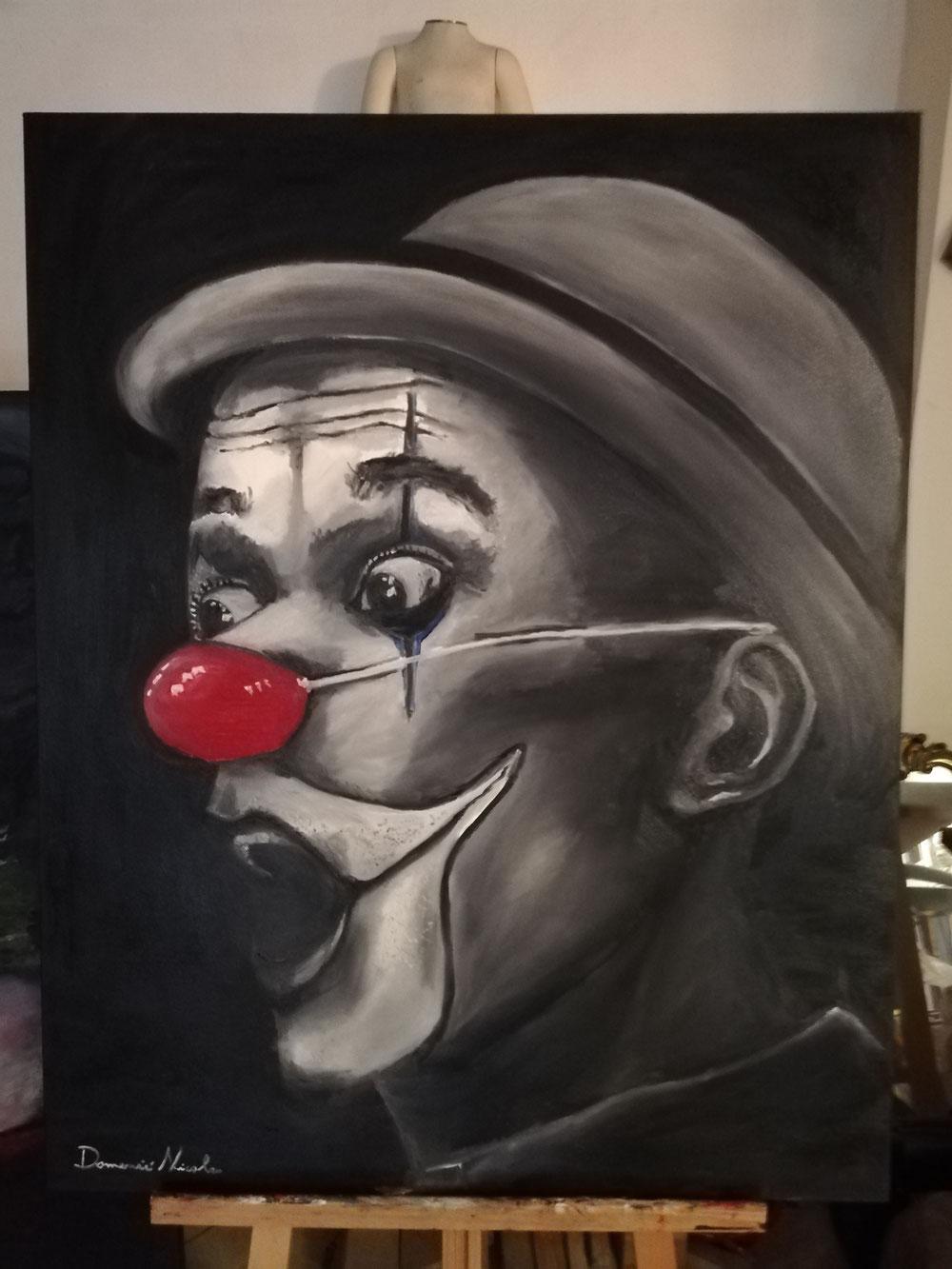 Clown (omaggio a Zoria) 80x100