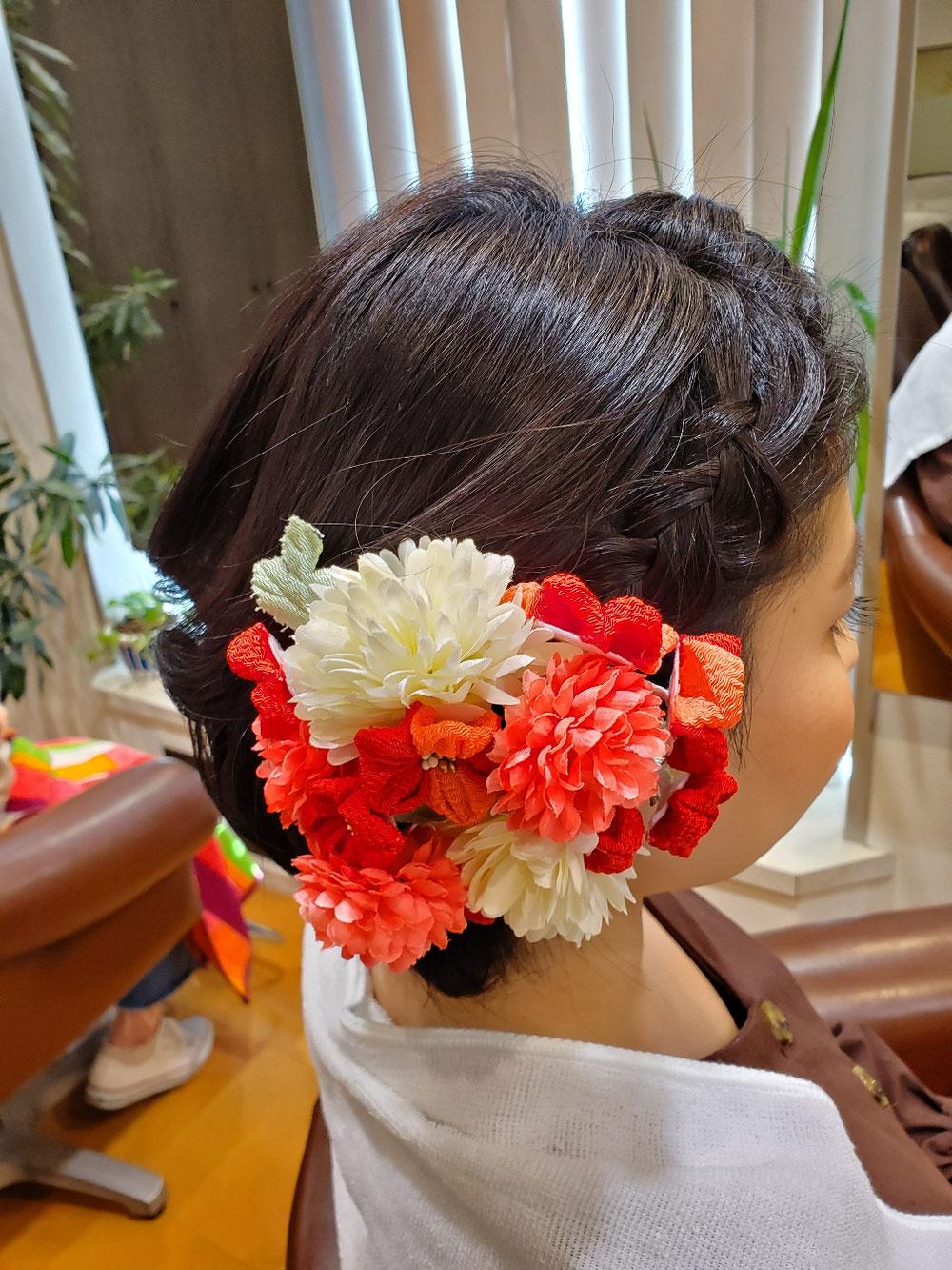 コチラはショートボブの方💠前髪を編み込み🎵