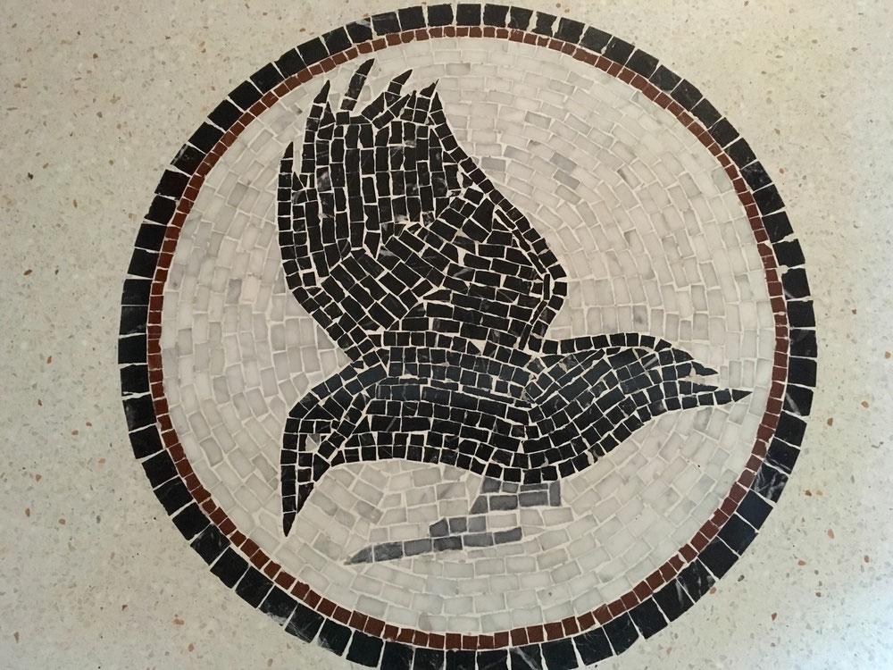 Mosaik Frankfurt mosaik krähe beim terrazzoprojekt scheune 2 0 in frankfurt am