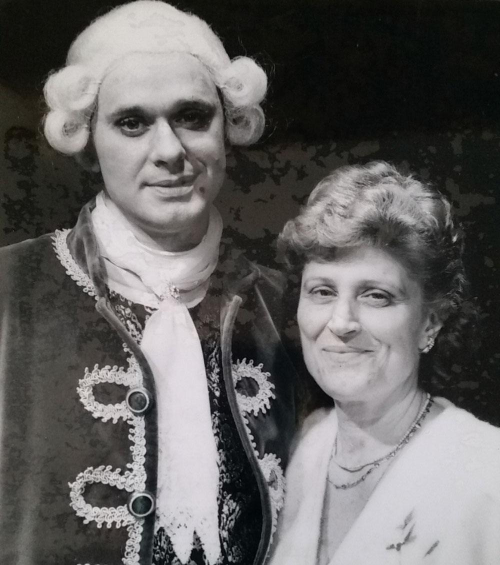 con mia mamma a Spoleto 1992