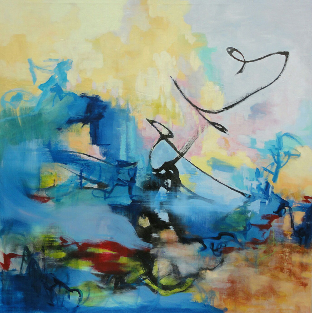 This moment, 140 x 140, mixed media on canvas / private collection