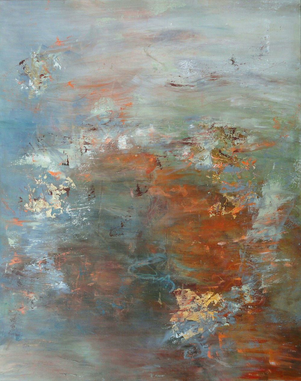 Reflections on the sea, 100 x 80, mixed media on canvas