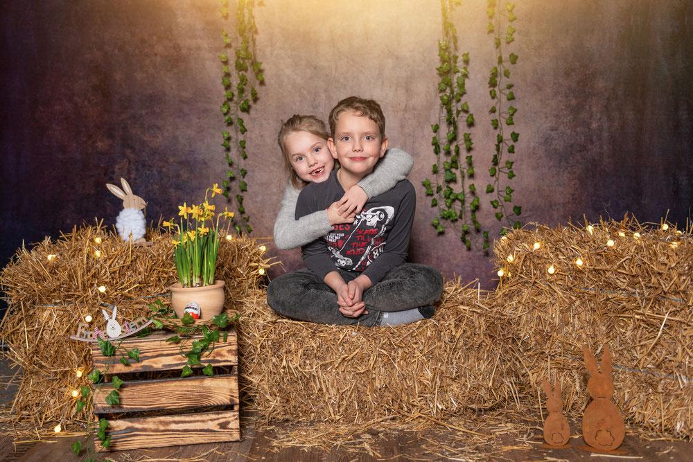 Osterangebot Shooting Kinder Osterhase Ostereier Fotoshooting