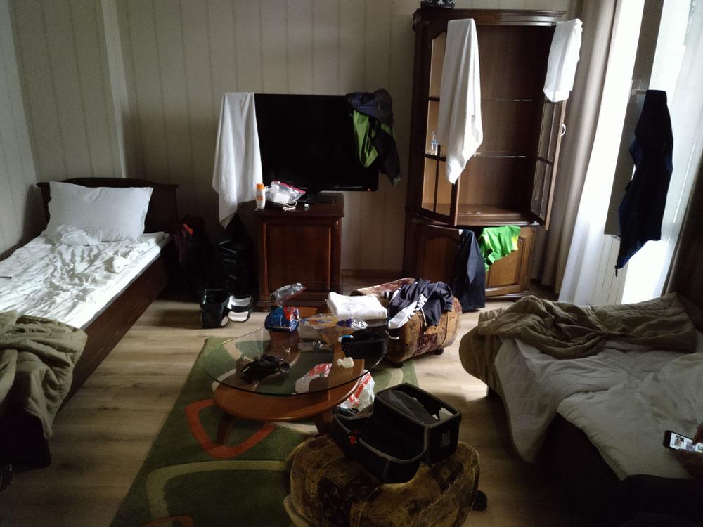 Ein typisches Radfahrerzimmer, abschreckend?