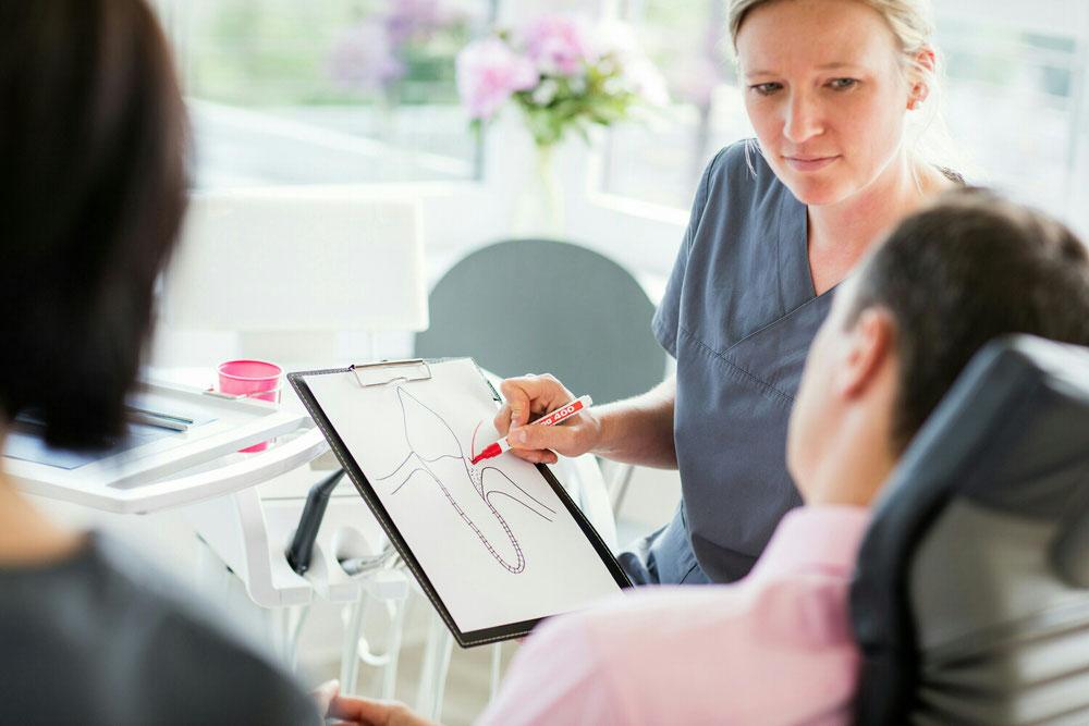 Nora Oelbermann erklärt wie es zu Problemen mit dem Zahnhalteapperat kommen kann