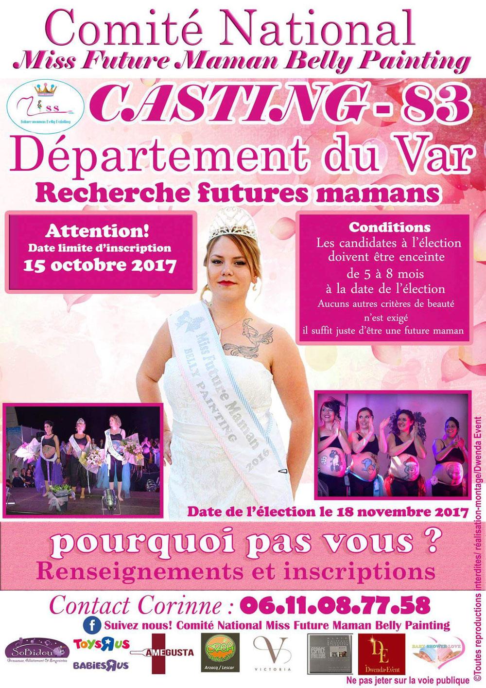 Recherche futures mamans pour élection de Miss Futures Mamans et Miss Bellypainting pour la region du 83