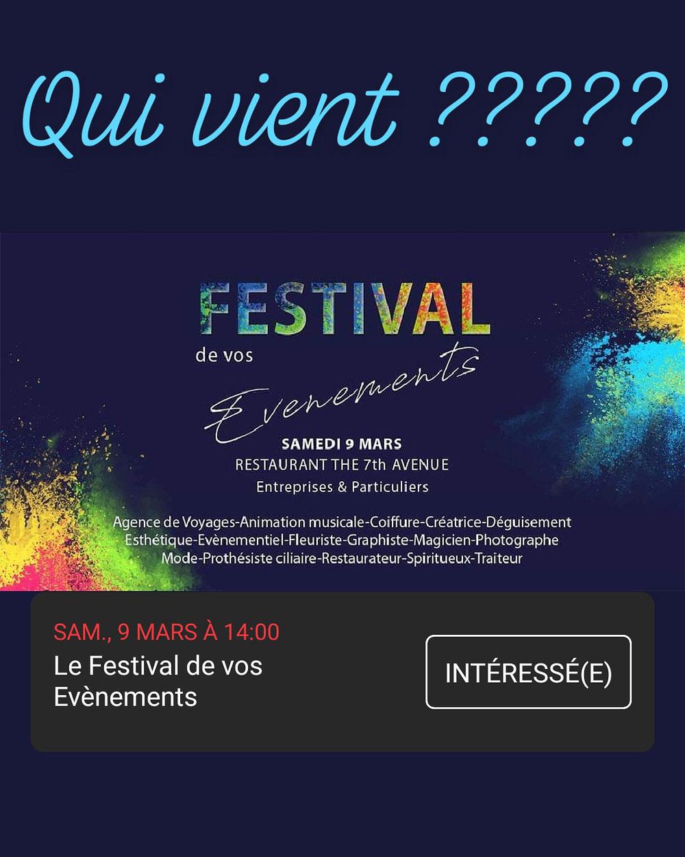 Le festival de vos événements