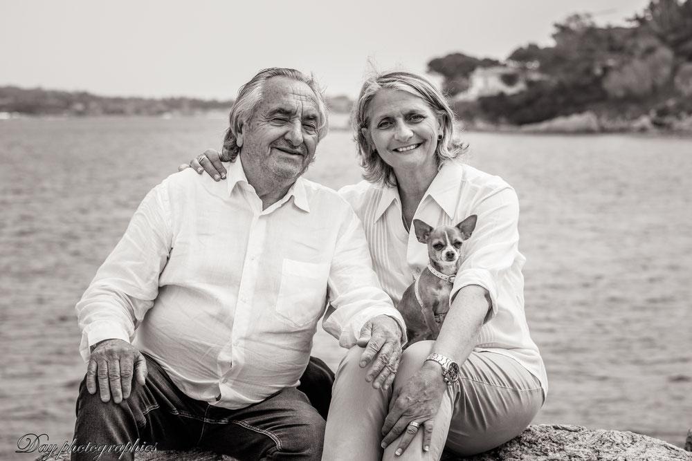 Nadia & Jean-Yves Deschamps, et leur petite Maya. Day photographies.