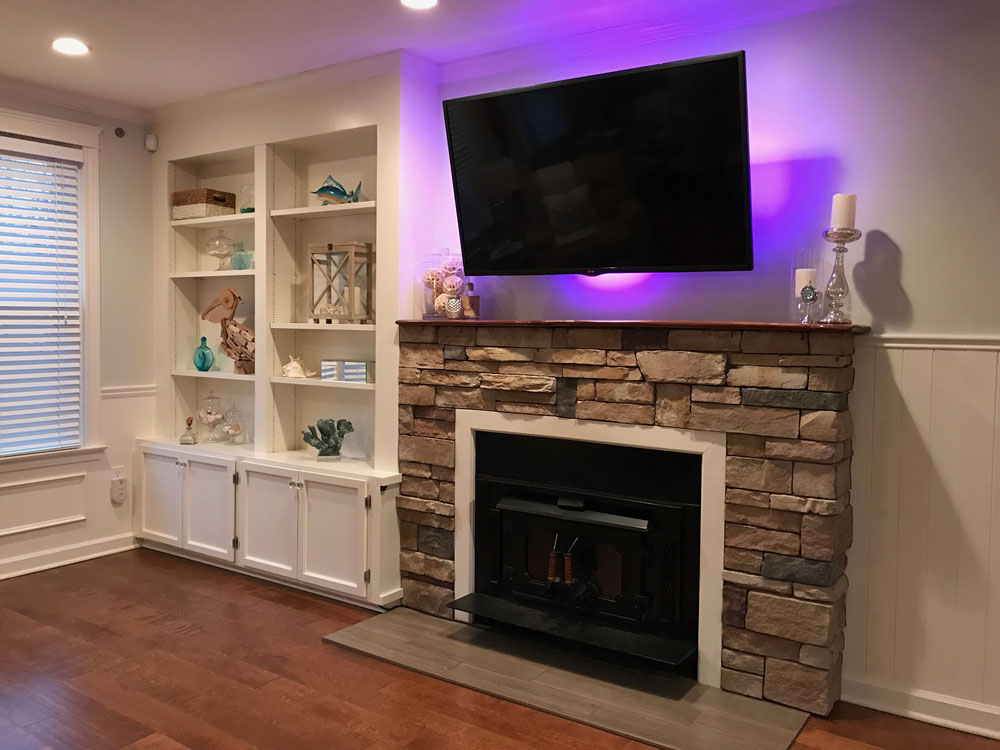 residential remodel, flooring, tile, water damage repair, fireplace, stone fireplace, wood floor, window replacement, burlington, nj, remediation, remodel, reapirs