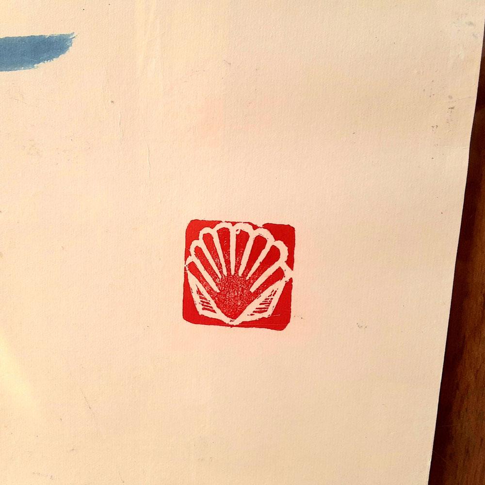 右下の「二枚貝」の印