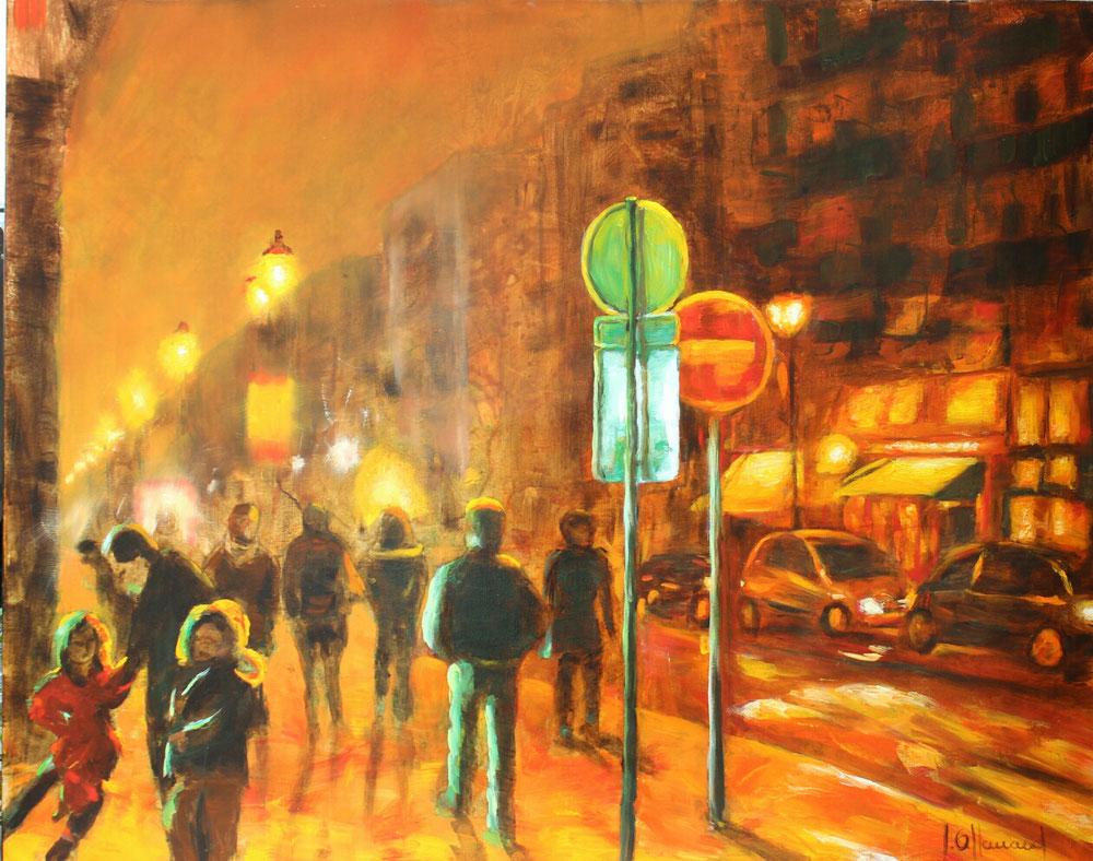 Les lumières de la ville  100x80