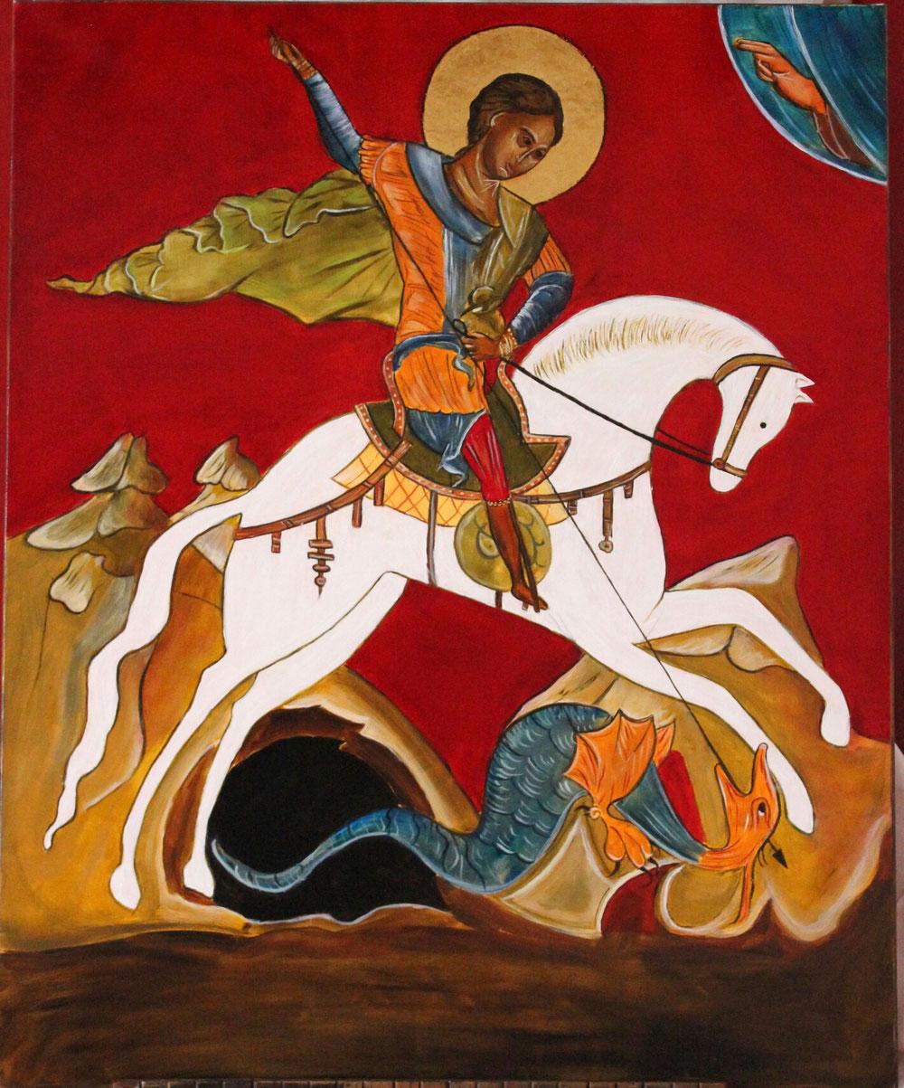 Icône St Georges de Lydda 80x 100cm