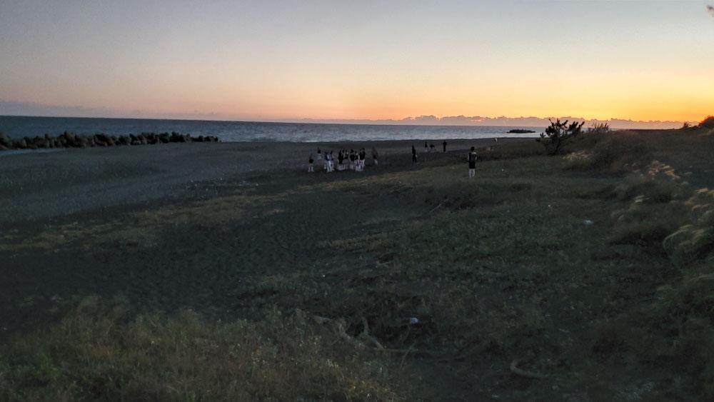 砂浜トレーニング