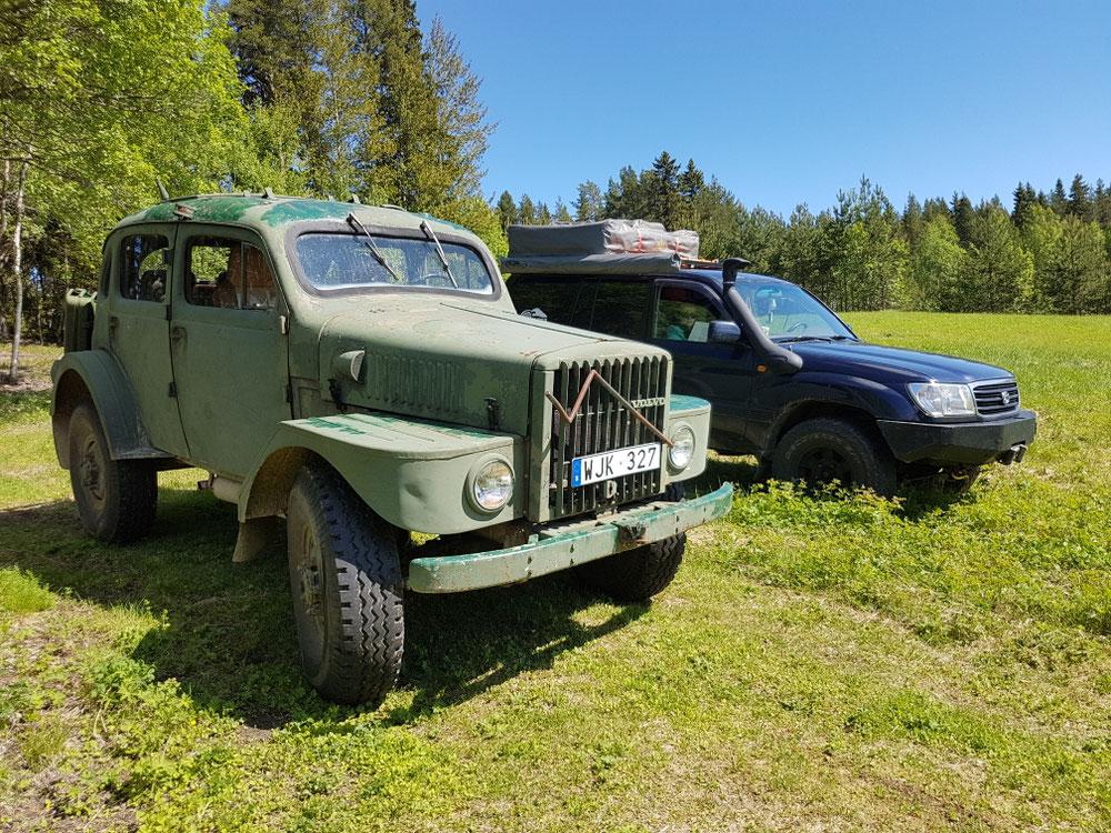 Und völlig überraschend gseh mir ä Volvo Laplander zu Lapland...