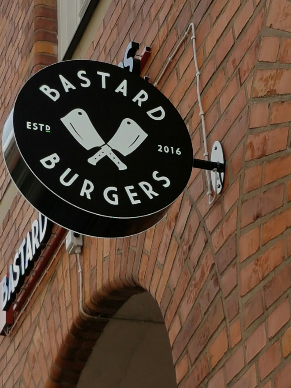 Bastard Burgers in Uppsala. Haw kuhl iz that....