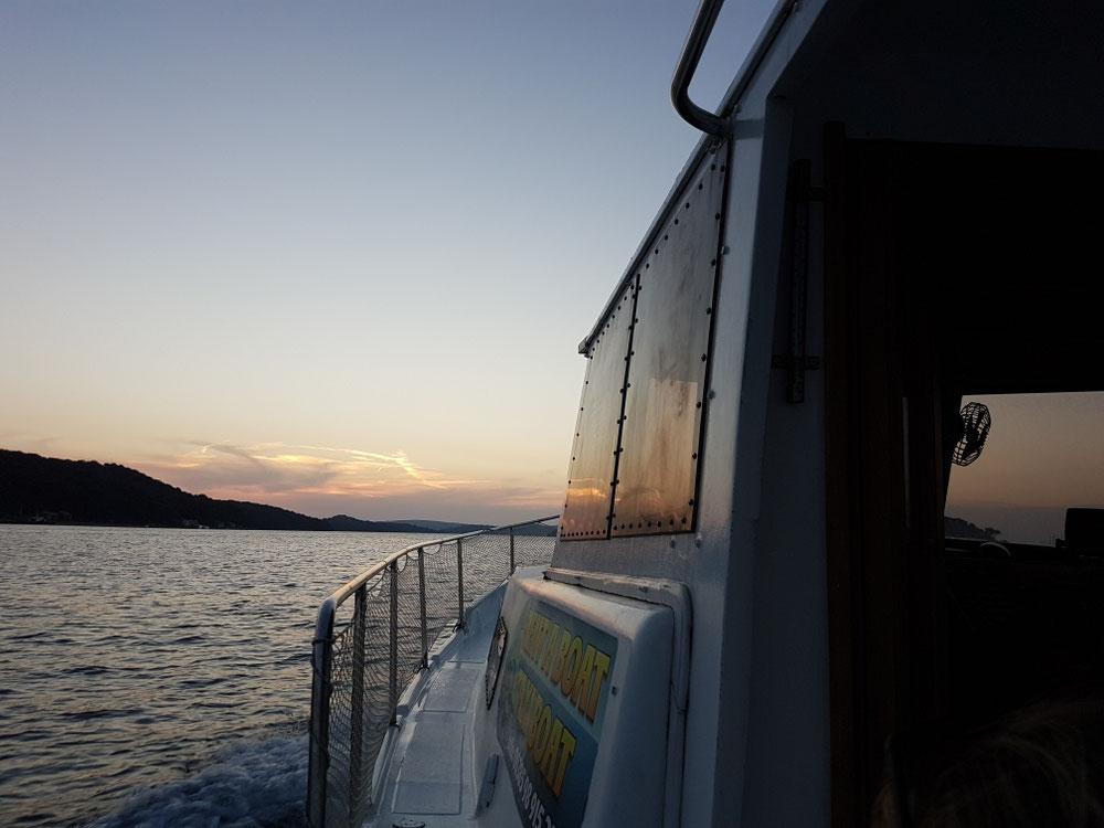 Mitem Taxiboot ufem way back home