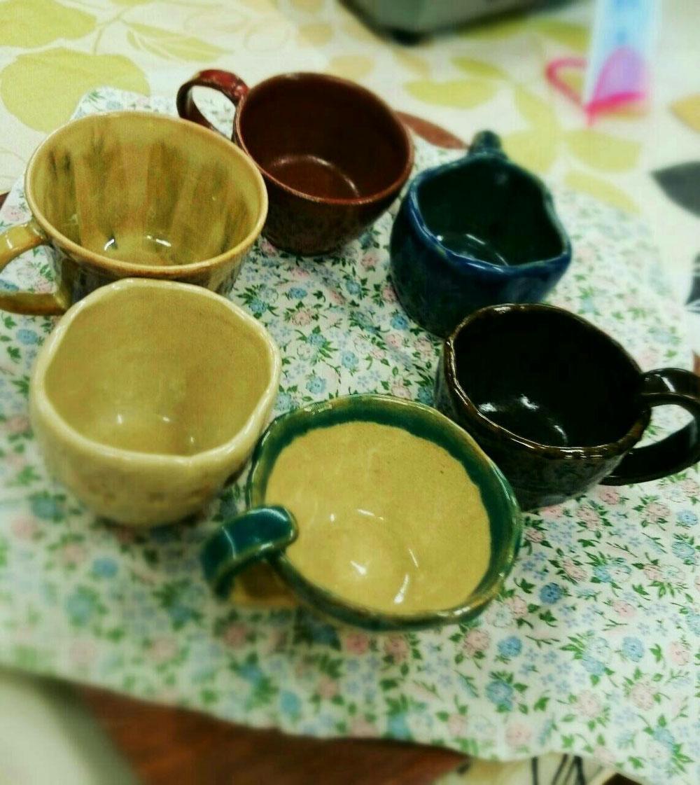 手作りコーヒーカップ(*^^*)