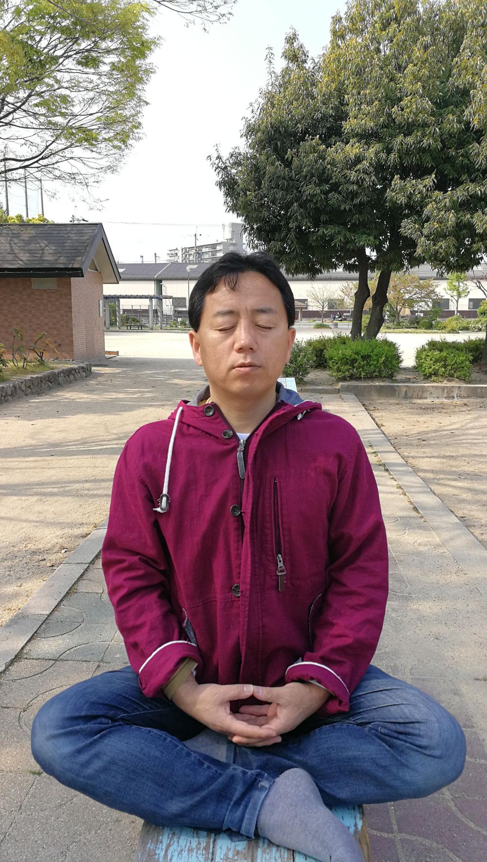八尾の公園で座禅 瞑想