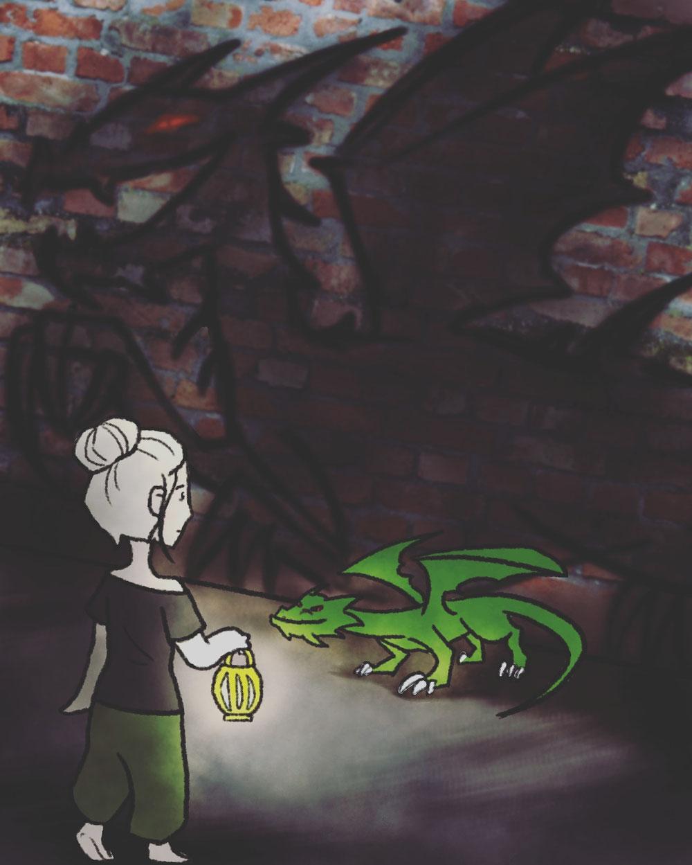 Die wundervolle Katha hat mich und meinen Drachen illustriert ♥