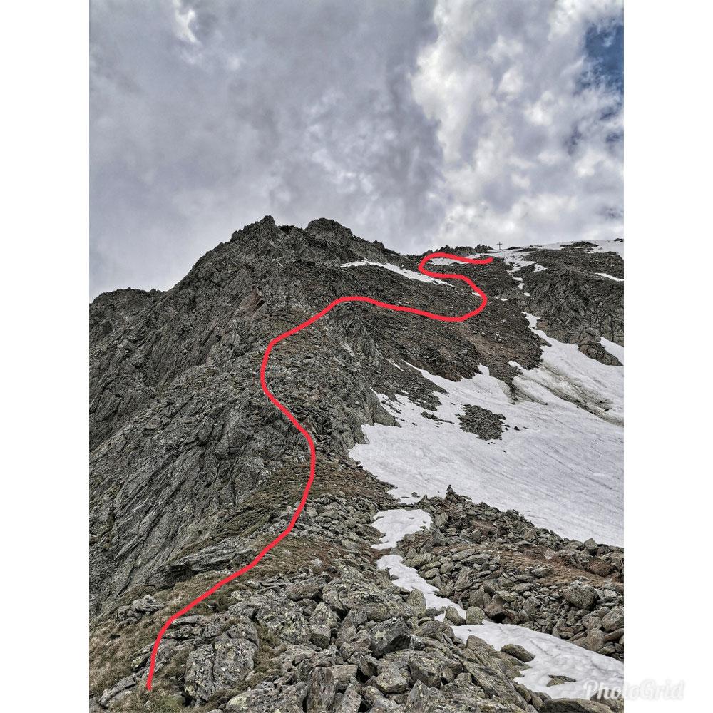 Ist das der Weg zum Gipfel?