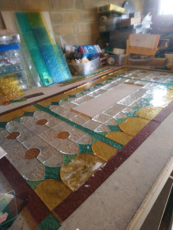 Fanlight in Stained Glass www.roasglassdesigns.com