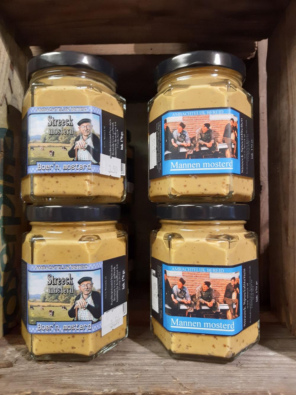Lekkere boeren mosterd en mannen mosterd lekker bij de worst