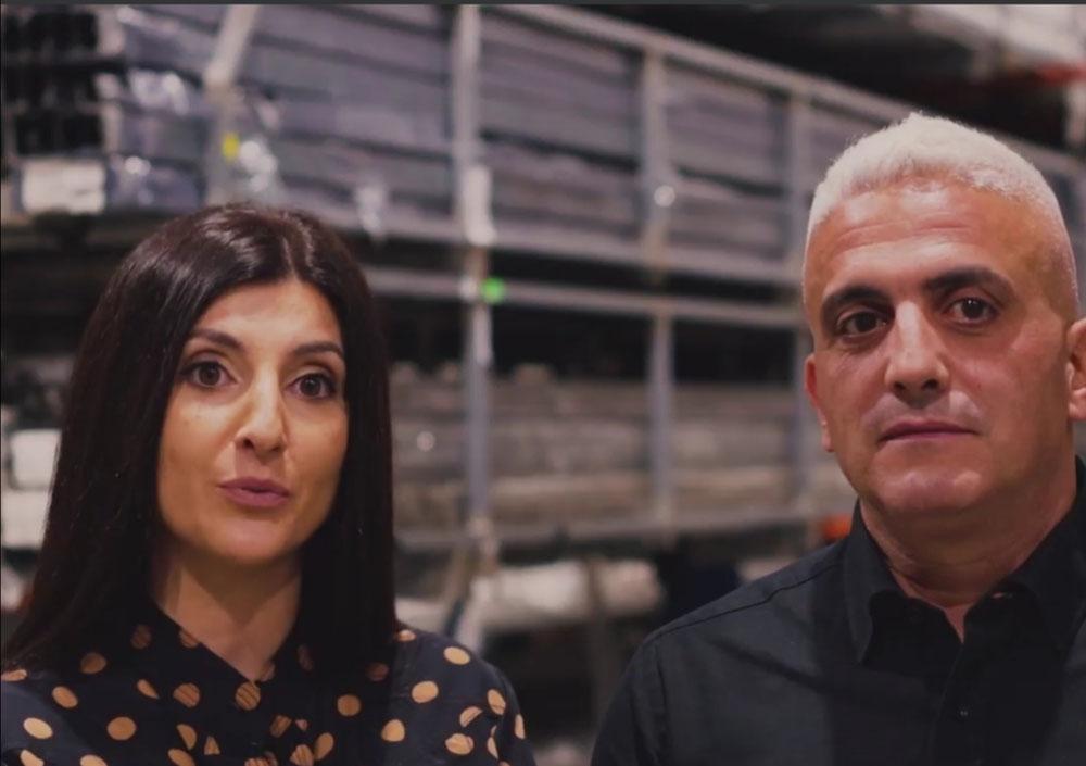 السيد شارلي إبراهيم وزوجته دنيز