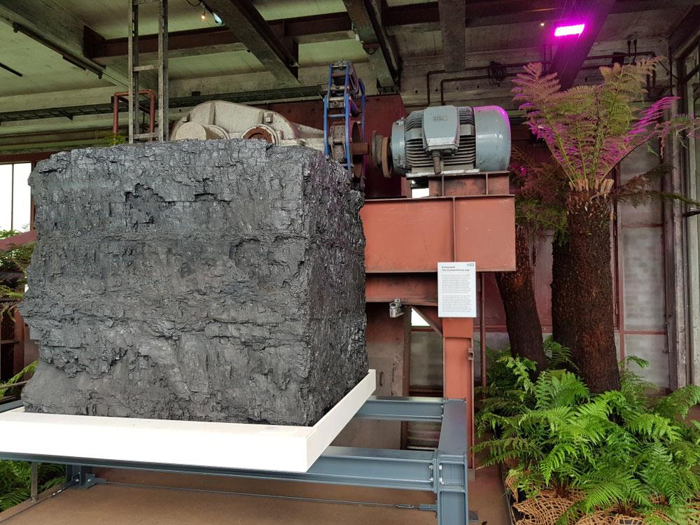 ...das größte Steinkohlestück aus dem Ruhrgebiet