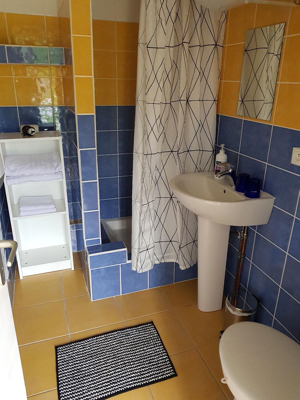 Salle de bain dans studio