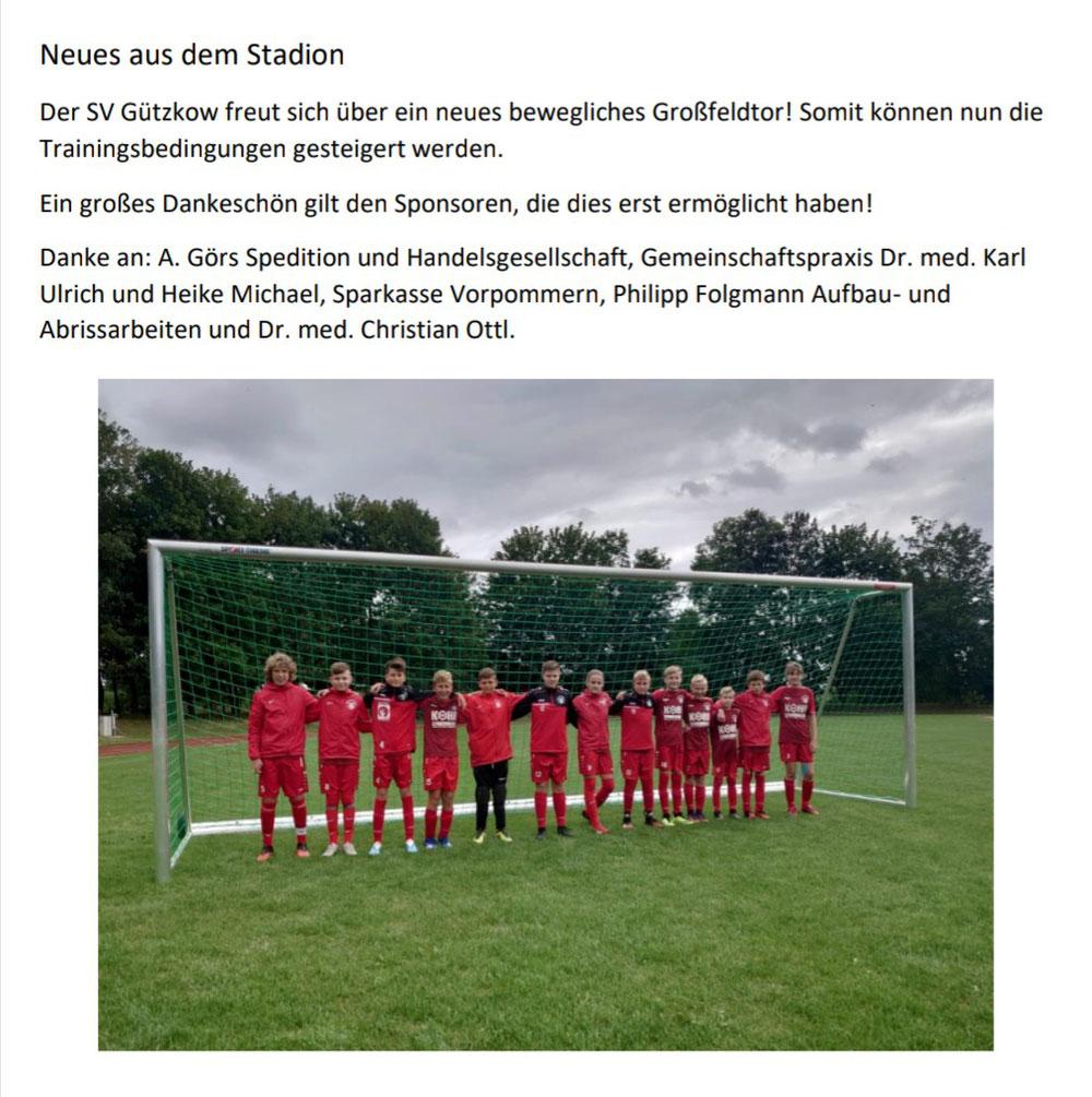 Neues bewegliches Großfeldtor..