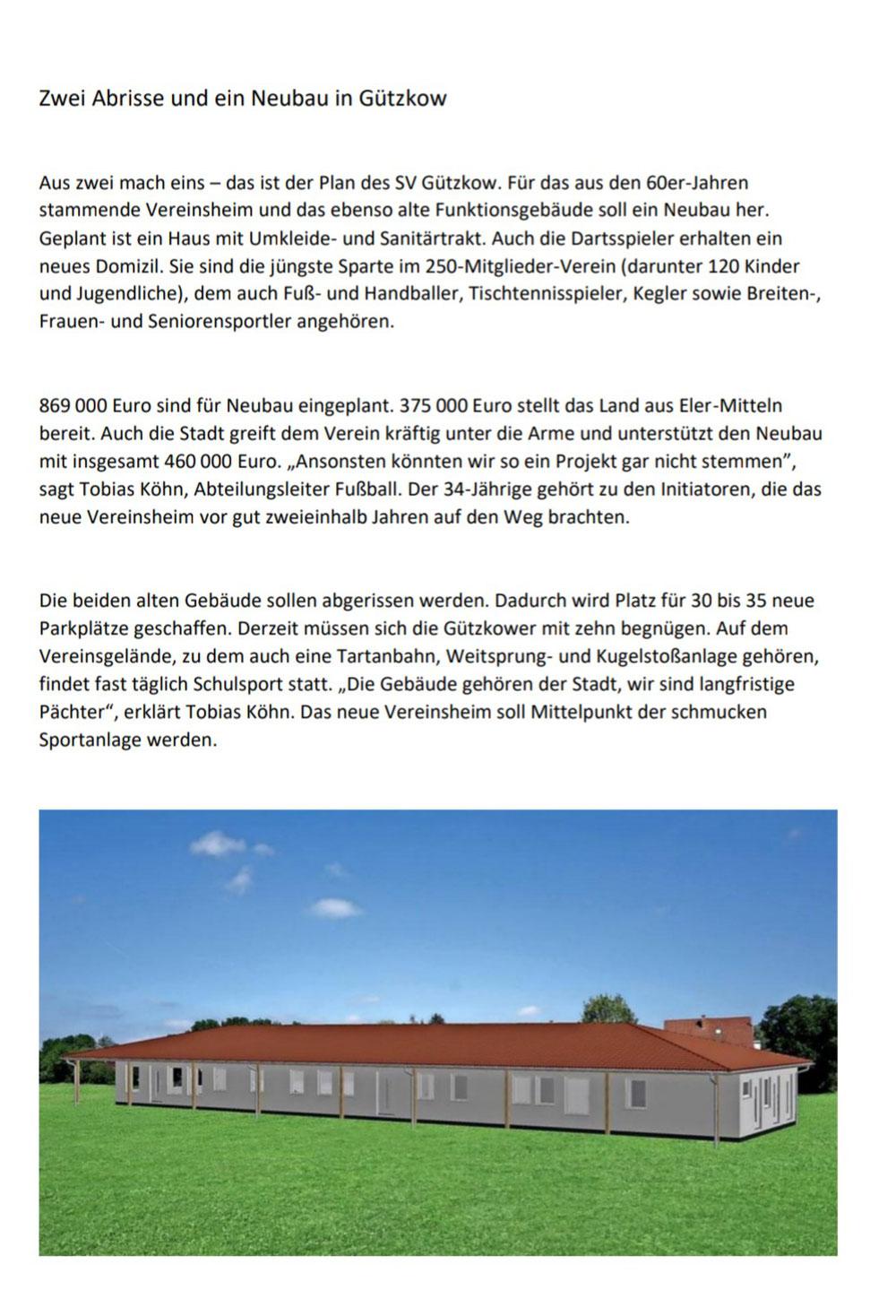 Endlich positive Nachrichten aus Schwerin...