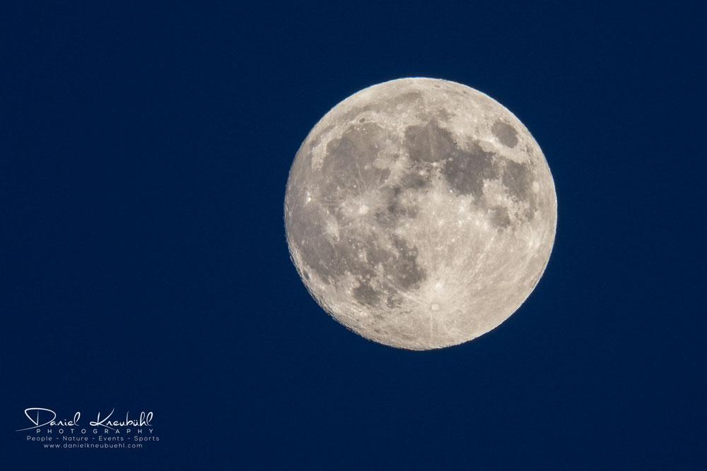 Mond, Krater, Vollmond, blaue Stunde, Sunset, Moon
