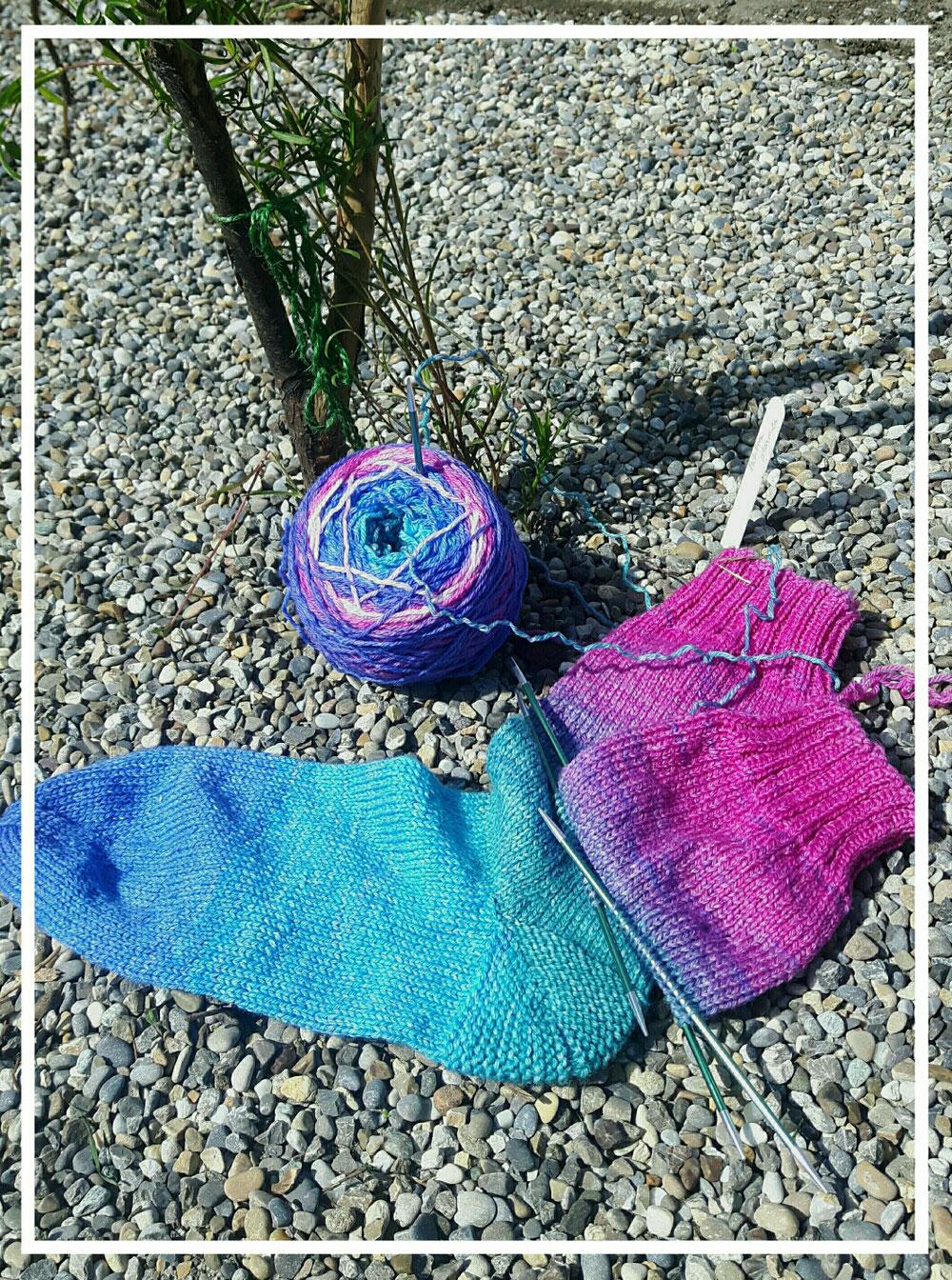 Socken aus Verlaufsgarn