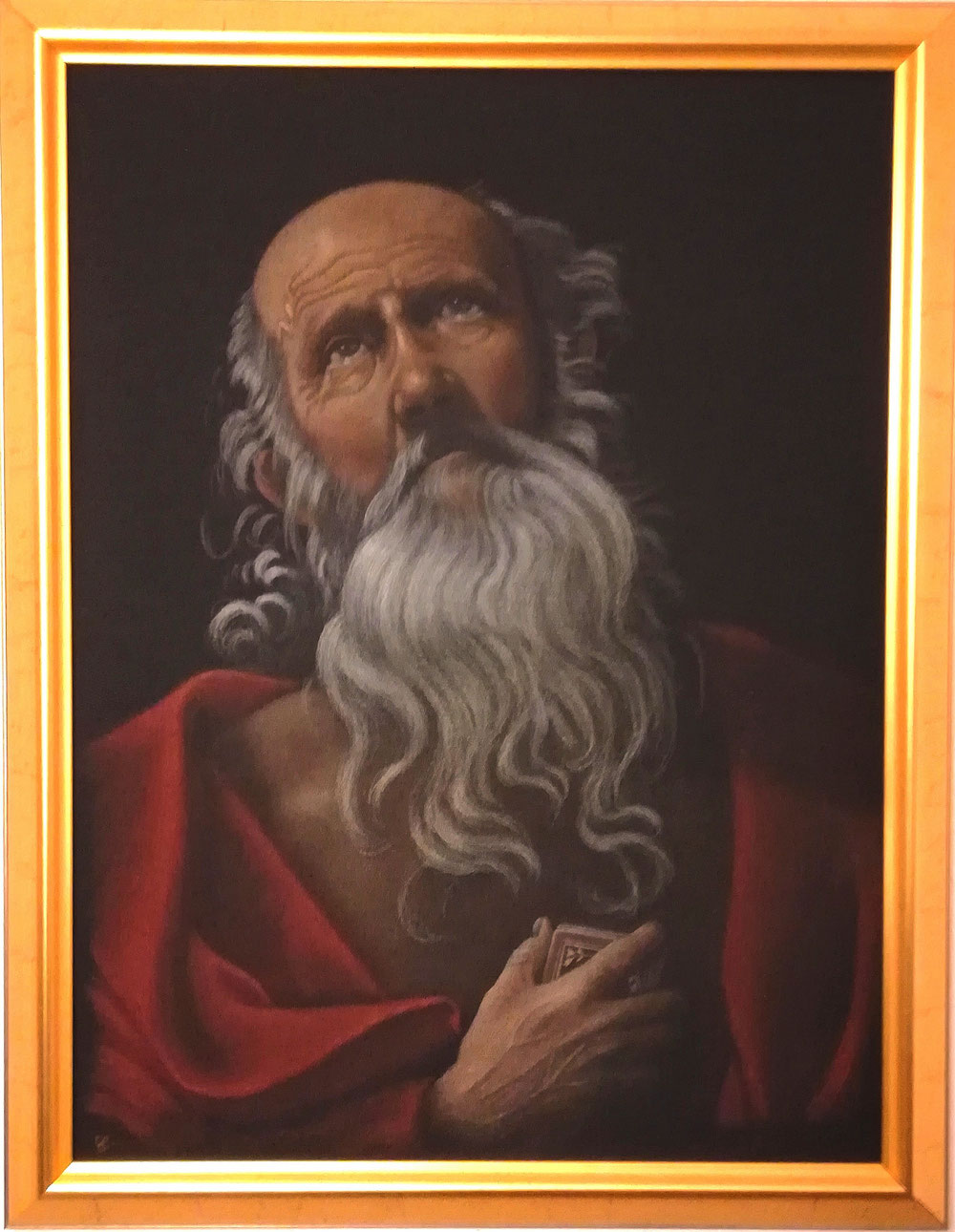 "60x80 cm, meine Interpretation von ""St. Jerome"", Original: Guido Reni, 1575-1642, Rom"