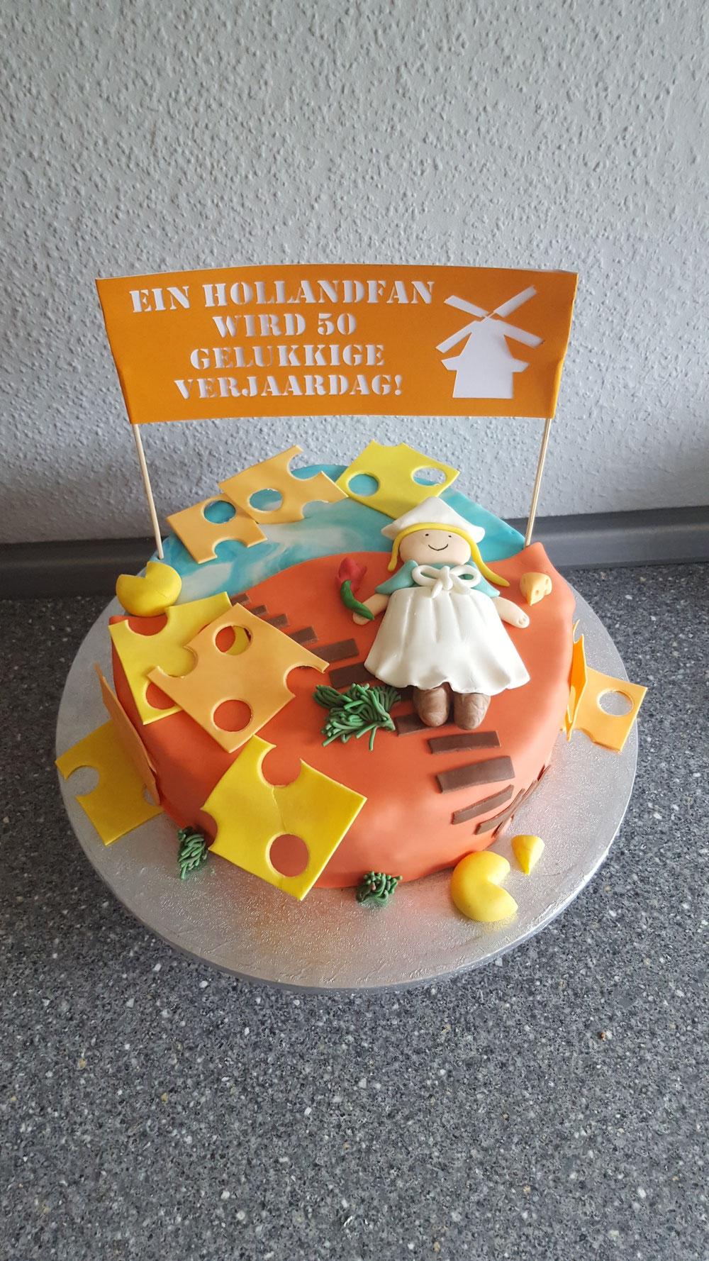 Torte für einen Hollandfan