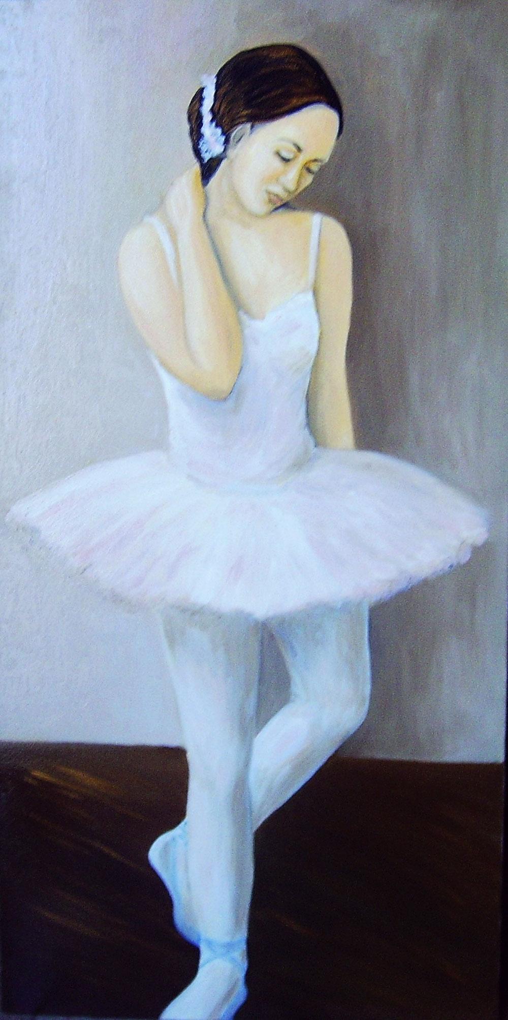 Ballerina olio su tela
