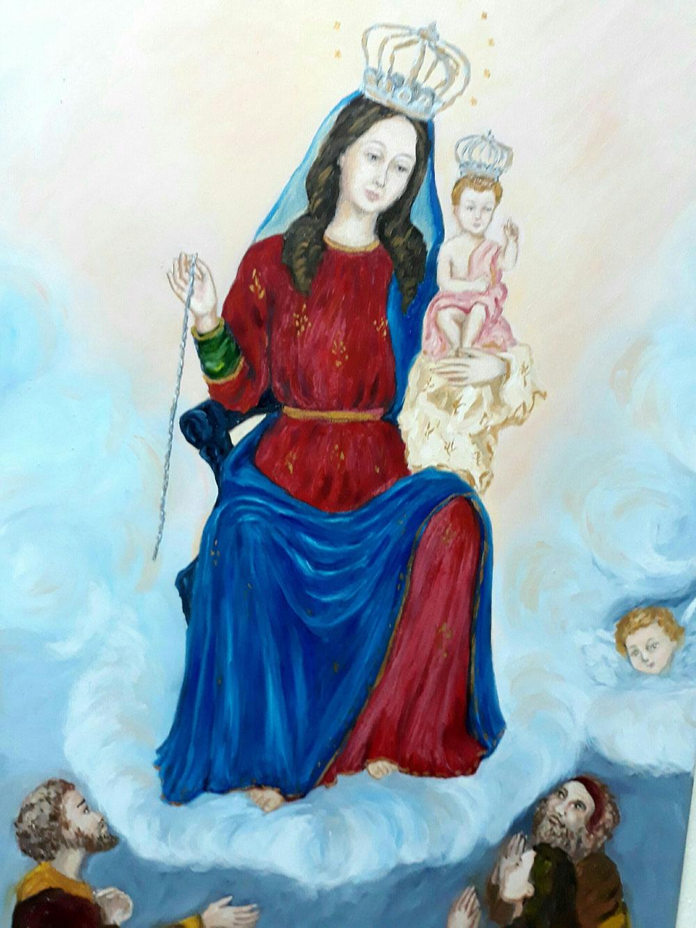 Olio si tela - Madonna della Catena