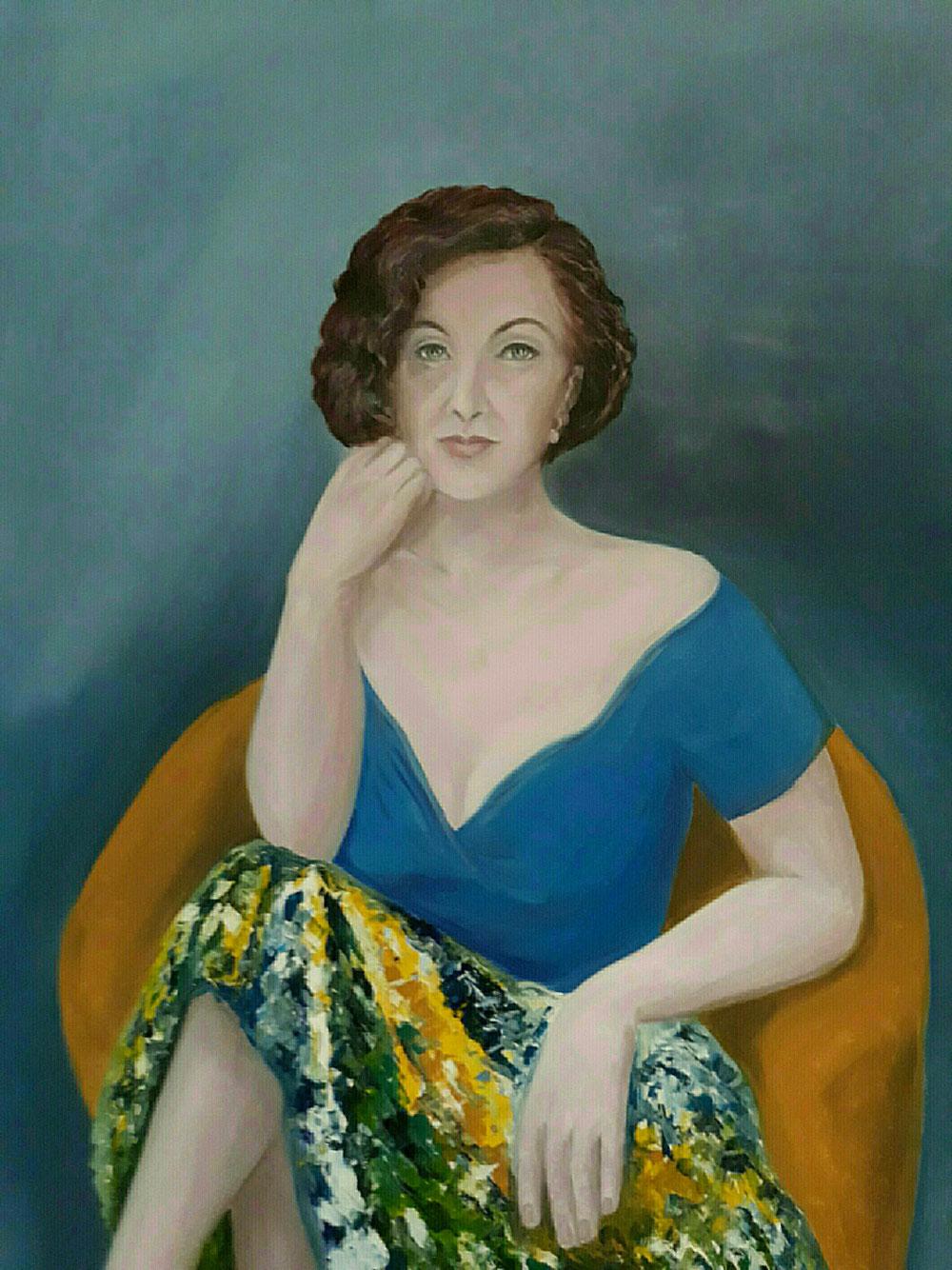 Olio su tela - Grazia Lombardo - Autoritratto