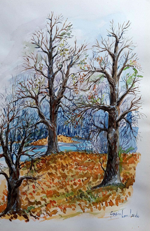 Bosco d'autunno acquerello