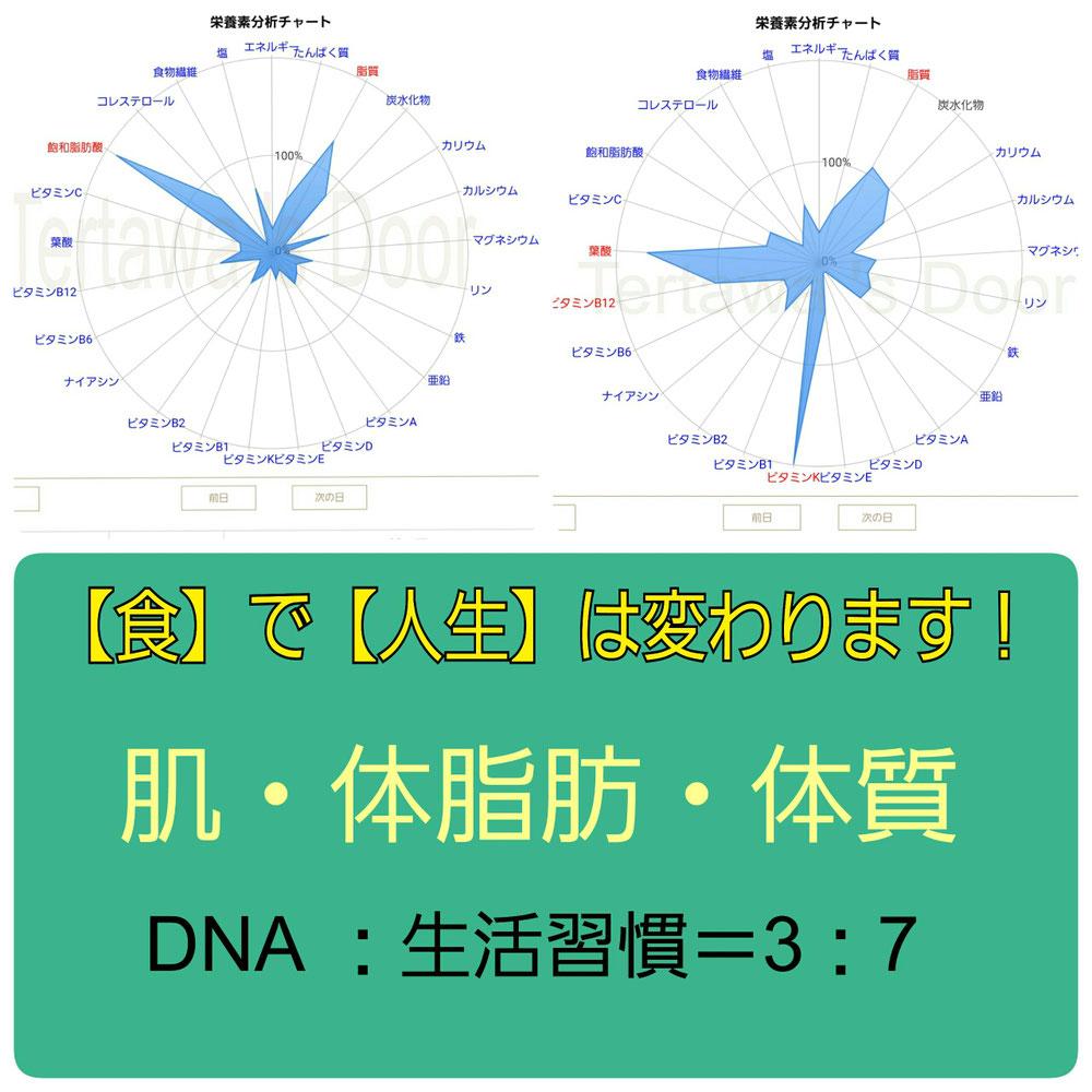 DNA  遺伝子 体質 食べ方 食の見直し