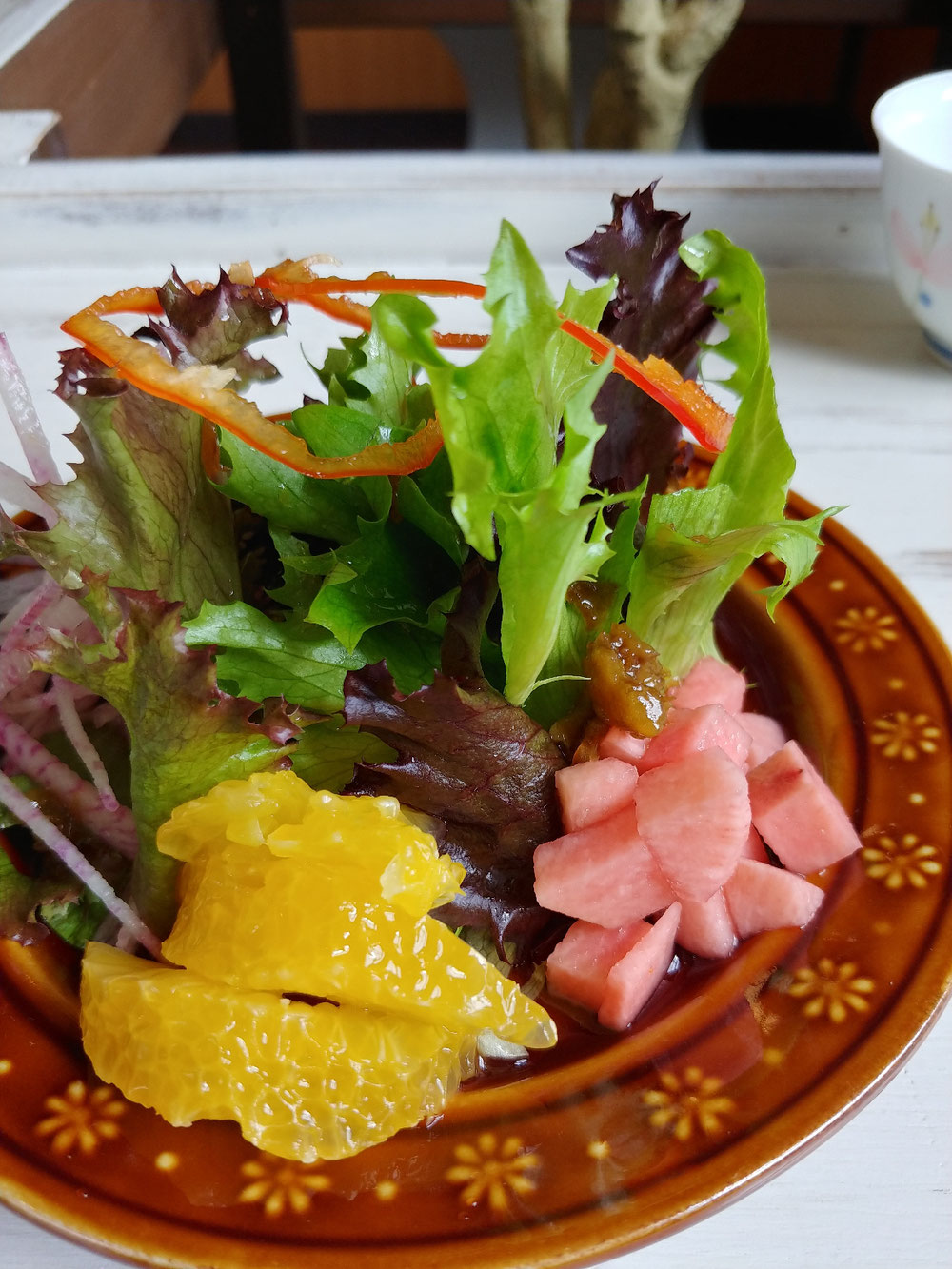 サラダ 柚子ドレッシング NAGOMIカフェ