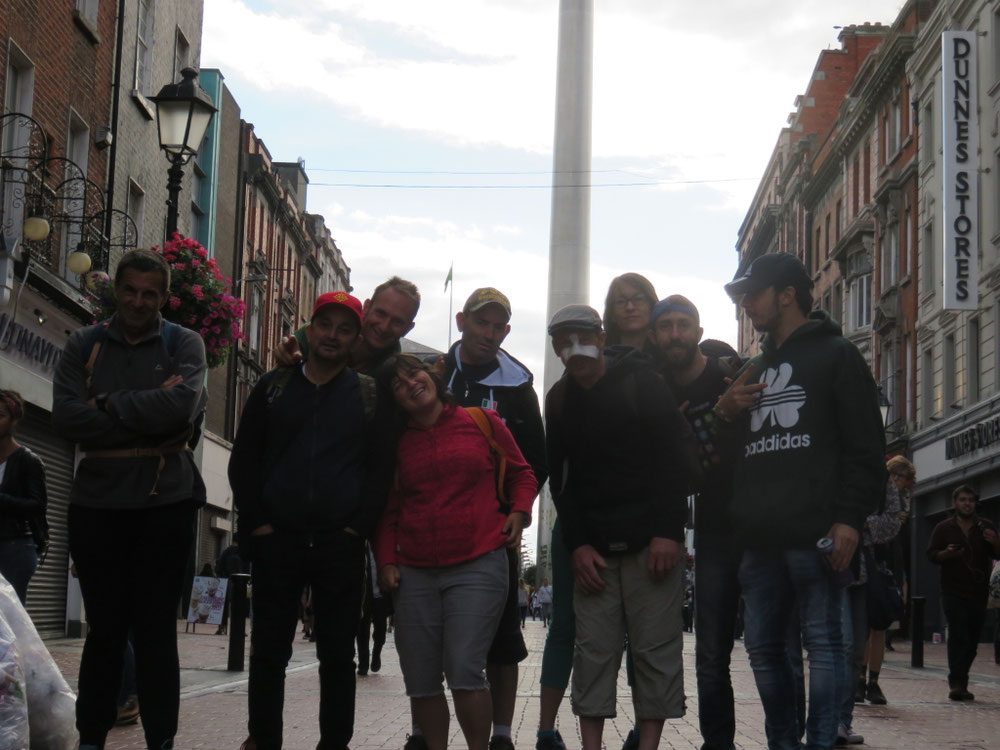 Dans le centre ville de Dublin